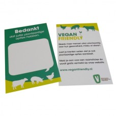Vegan Friendly bedankkaartjes - setje van 10 kaartjes