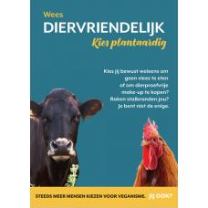 Flyer Wees diervriendelijk