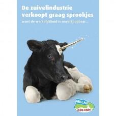 Flyer 'Melk, je kan zonder!'-campagne